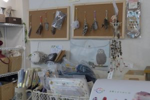 They have a little section selling owl-related toys and trinkets.