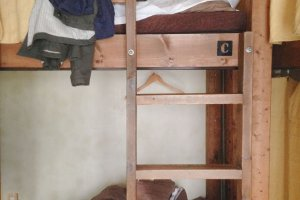 Ini dia kamar dormitory a la backpacker