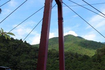 <p>The suspension bridge at the entrance</p>