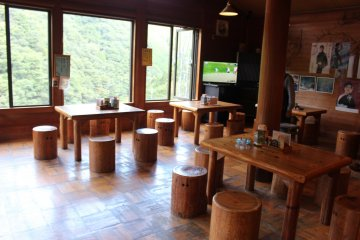 <p>The seating area of the noodle restaurant</p>