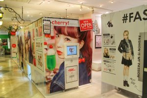 Downstairs you will find purikura booths
