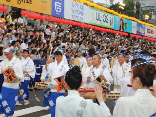"The musical bands are called ""Narimono"". Many kinds of Japanese traditional musical instrument are used"