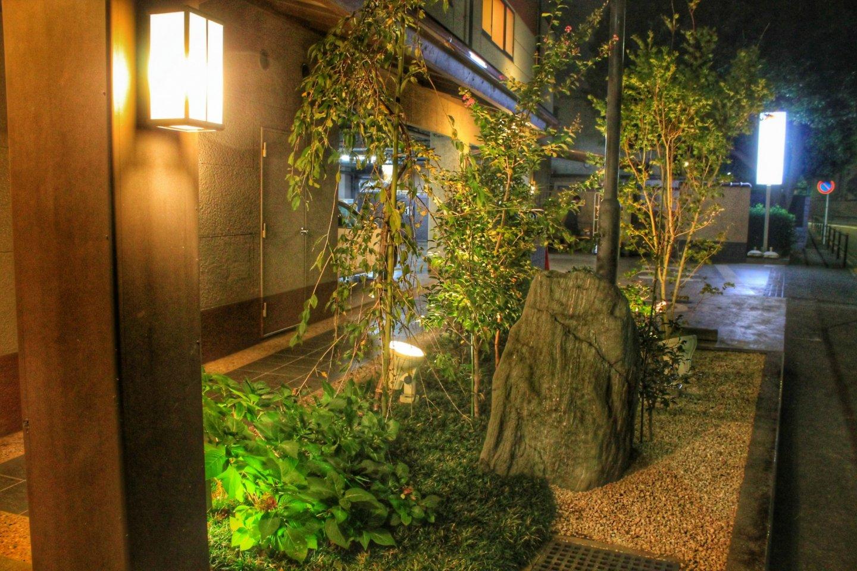 The welcoming outside of Yukemuri no Sato