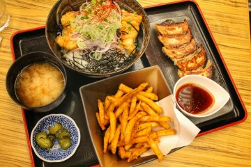 <p>A delicious meal after relaxing in the hot spring</p>