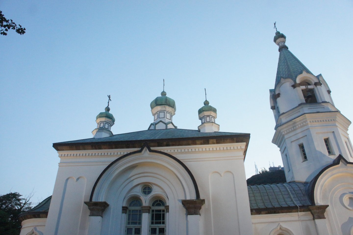 Russian Orthodox Church was built in the Russian Byzantine style from the 19th century