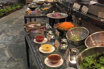 A look at the many options on the buffet