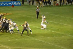 2014 Rice Bowl; Obic Seagulls field goal