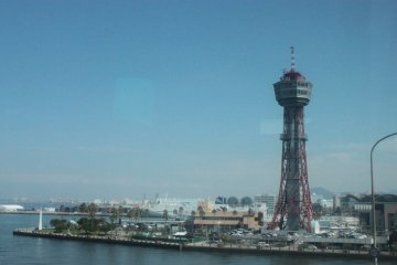 Fukuoka Port, taken from the bus en route to Kumamoto.