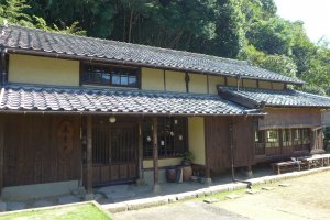 The traditional ryokan, now a ceramics museum and gift shop