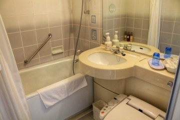 <p>The bathroom was very clean and provided everything you need</p>