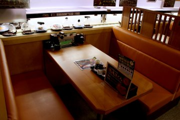 <p>A booth for four</p>
