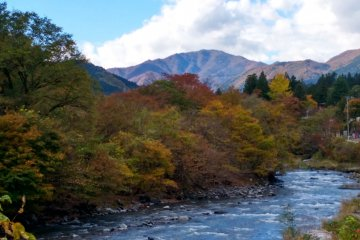 <p>The river and mountains on the west of Nikko</p>
