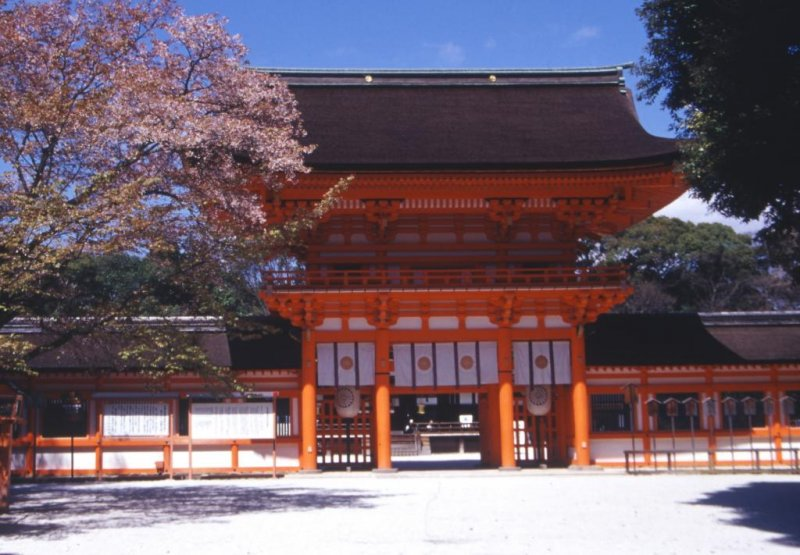 Heian Period Architecture in all its glory set in nature's sanctuary