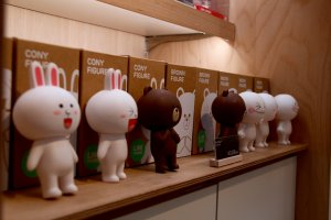 Figurines of Cony, Brown and Moon