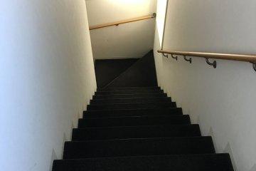 <p>Flight of stairs, no lift</p>