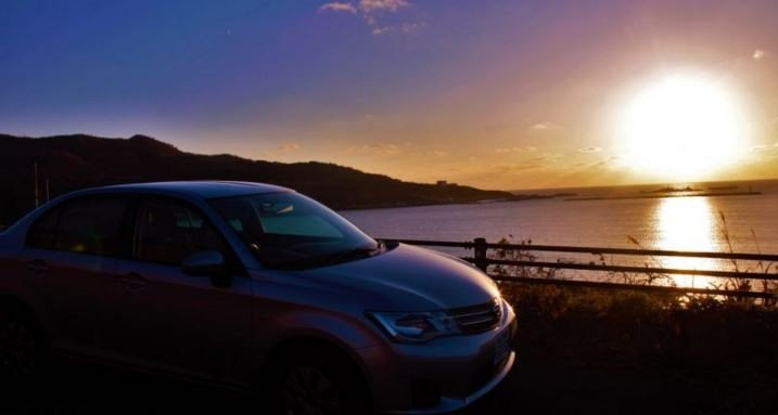<p>A car is very convenient when traveling around Tohoku</p>
