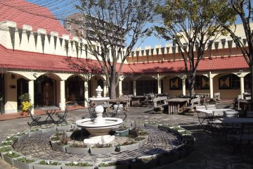 <p>The courtyard for outdoor eating, drinking, singing and dancing</p>