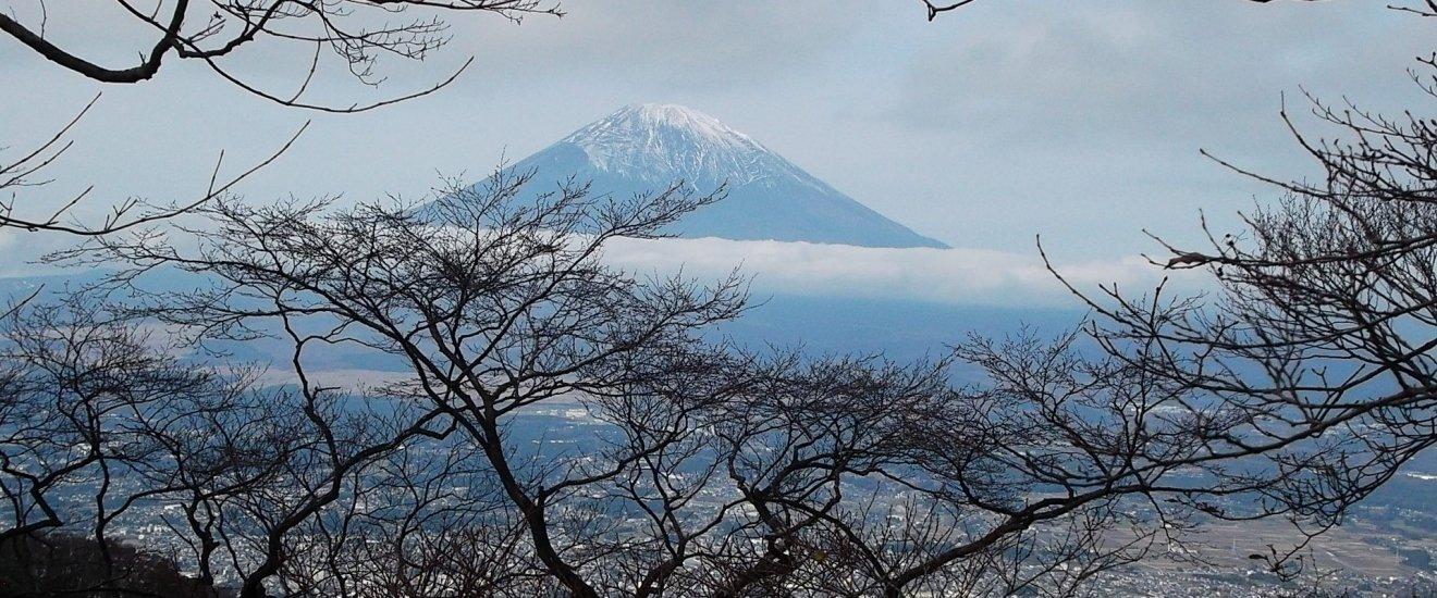 Mt Fuji taken from the summit of Mt. Kintoki