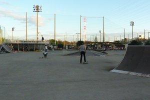 Vue du skate park d'Hashimoto