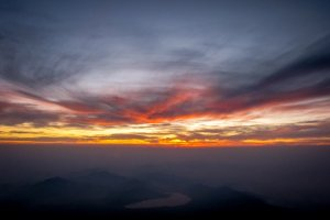 Sunrise from the summit of Mount Fuji