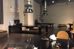 One of the corner of Yakiniku Kou Restaurant with the floor mate table-Japanese traditional style