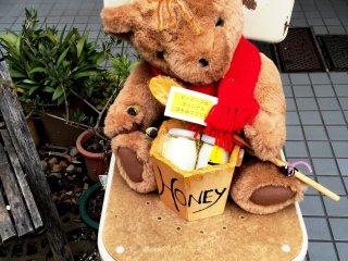 Симпатичный медвежонок приветствует посетителей