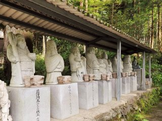 Japan's seven lucky gods are all represented at this Yasaka Shrine.