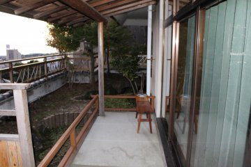<p>Another view of our private terrace.</p>