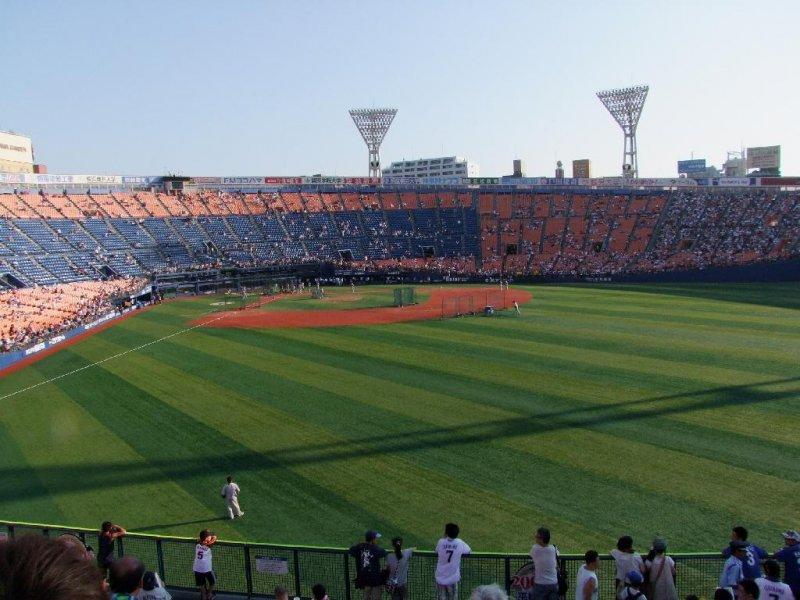 Beautiful Yokohama Stadium, home of the Bay Stars. Not a bad seat in the house.
