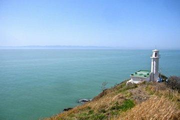 Sado Island and Cape Kakuda Lighthouse