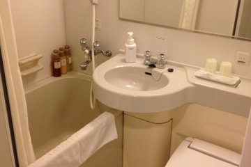 <p>Bathroom with washlet toilet. The tap water is drinkable</p>