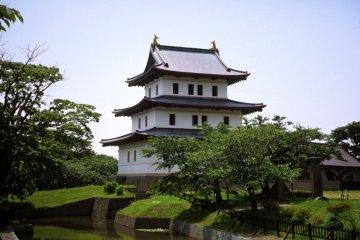 <p>松前城是在日本最靠北的城堡</p>