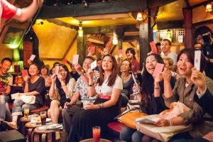 A Tokyo audience enjoying a show (photo by Michael Holmes)