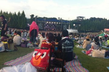 There's plenty of seating near the back of the main stage, lots of people put a blanket out at the start of the day and even leave cool bags there unattended