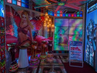 Entrance area of the Robot Restaurant - the decorations are already quite extravagant