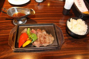 Nara Kitchen's steak lunch set, just ¥1,274 (~$12 US)