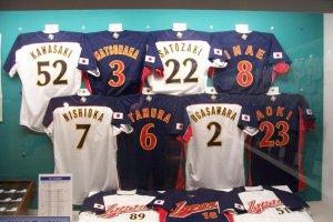 The uniforms of the 2006 World Baseball Classic winning Japanese squad