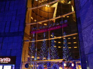 The nearby Caretta Shiodome shopping complex offers plenty of restaurants for dining before or after the light show.