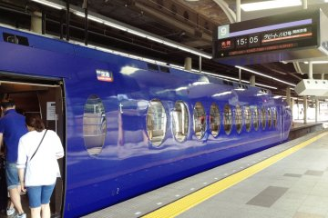 The Nankai Rapit airport express is the quickest way from Namba to Kansai Airport.