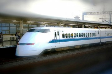 <p>The Nozomi train runs every 10 minutes during peak times, so there is no problem if your plane is late.</p>