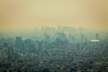 Tokyo depuis la Skytree
