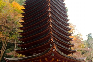 <p>The 13-story pagoda with a person for size reference</p>