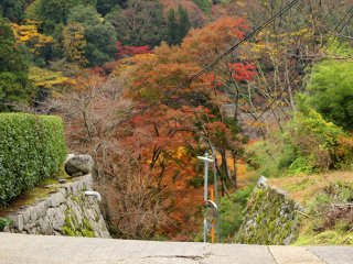 The driveway at the top of Tonomine Pass leading to Tanzan Shrine