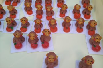 <p>Lots of monkeys as it is the zodiac animal for this year</p>
