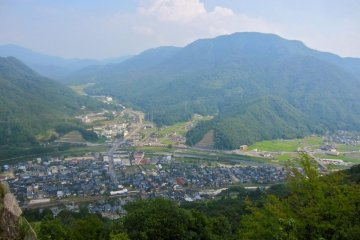 Looking east over the town of Takeda