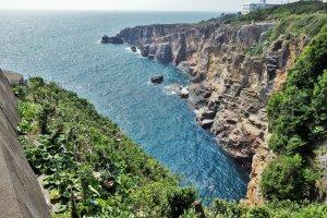 View of the Sandanbeki cliffs.