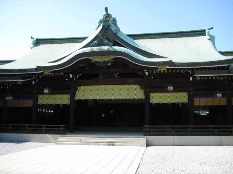 <p>Meiji Shrine&#39;s main hall</p>
