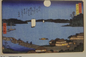 歌川広重的『瀬戸秋月』名画
