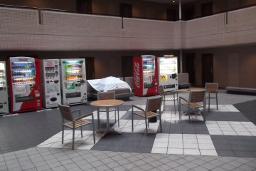 The courtyard and vending machines