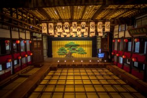 The stage of the Konpira Grand Theater in Kotohira